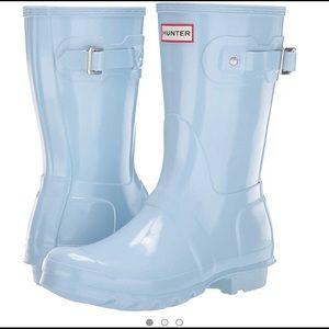 RARE boat blue hunter boots